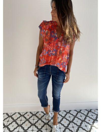 Jeans Johanna poches bleu foncé