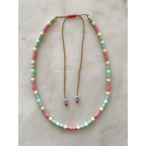 Collier perles metal rainbow