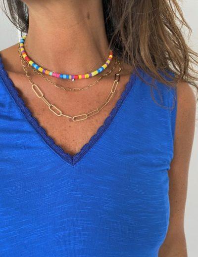 Collier perles metal Armelle