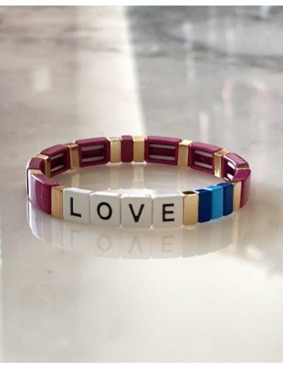 Bracelet Love rose
