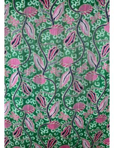 Robe Rue des Abbesses Vanessa vert et rose