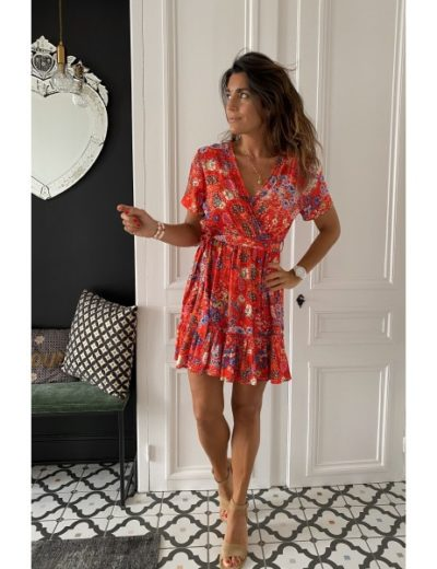 Robe Vintage Love Diega flowers rouge