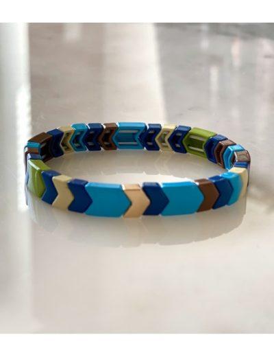 Bracelet fin multico bleu