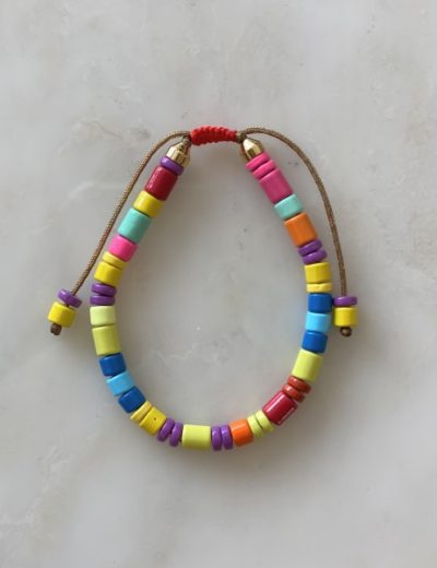 Bracelet perles metal Armelle