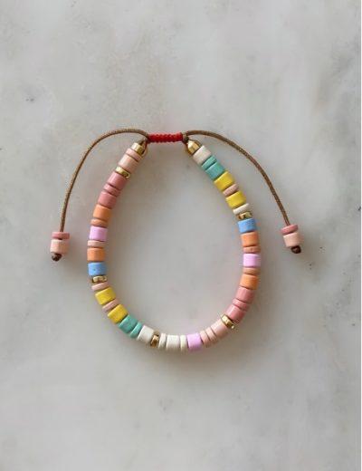 Bracelet perles metal Unicorn