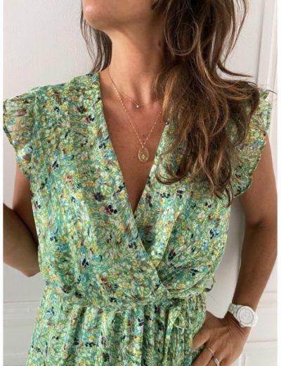Robe Vintage Love Naty liberty vert
