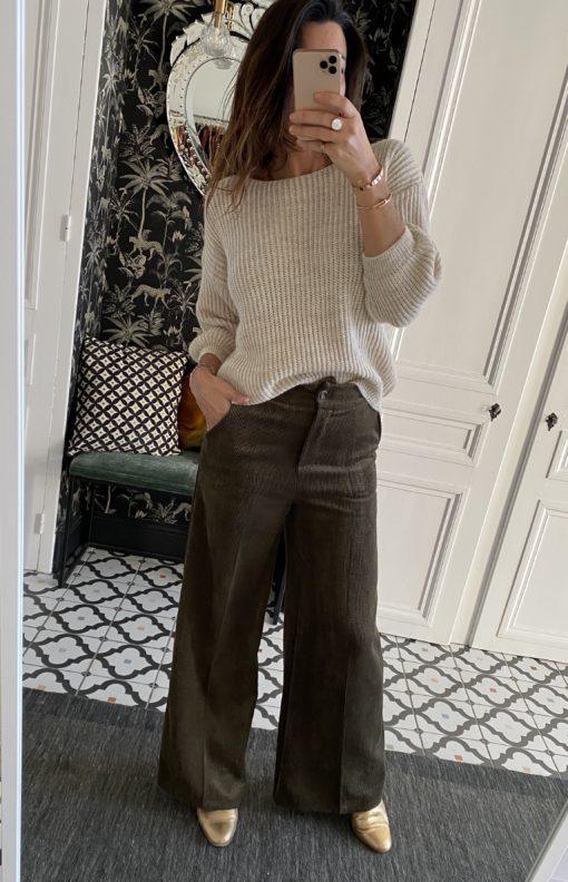 pantalon-johanna-velours-large-kaki