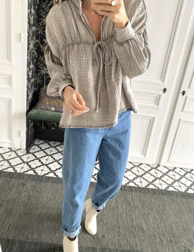 blouse-jahanna-gaze-coton-taupe