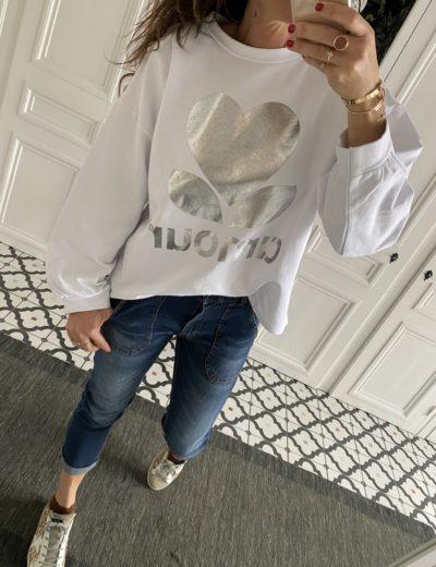 sweat-shirt-amour-argent