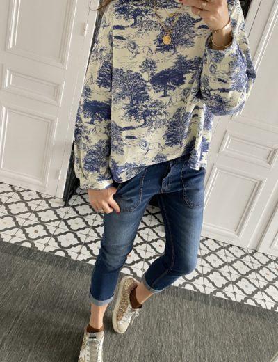 sweat-shirt-toile-jouy-bleu