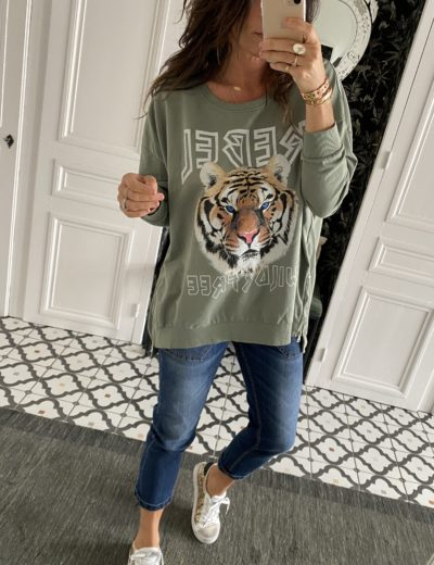 sweat-shirt-rebel-tigre-kaki